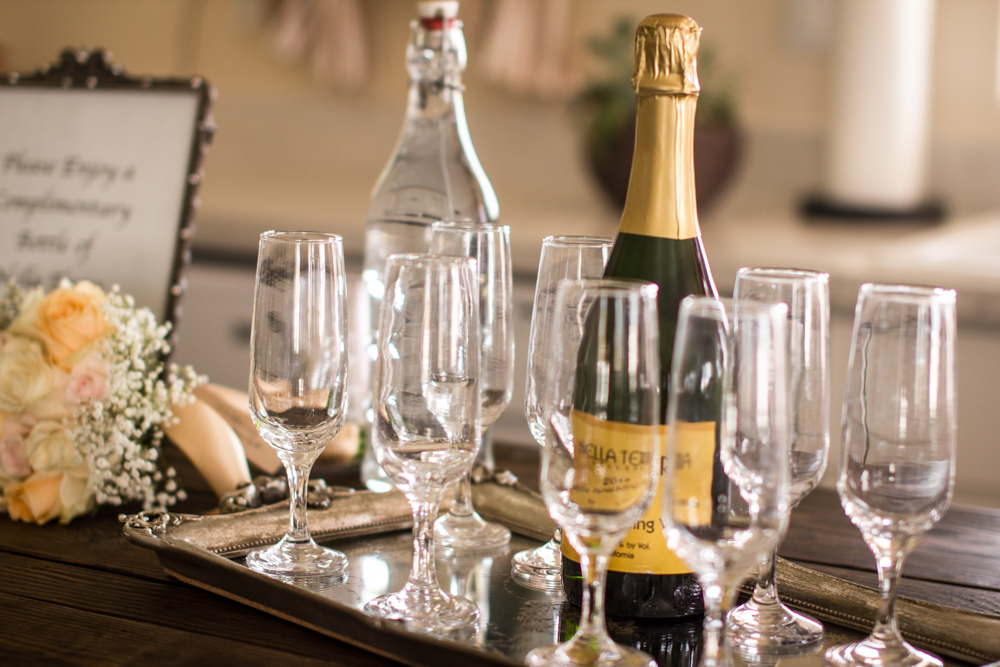 Cheers! Have a toast with your bridal party!